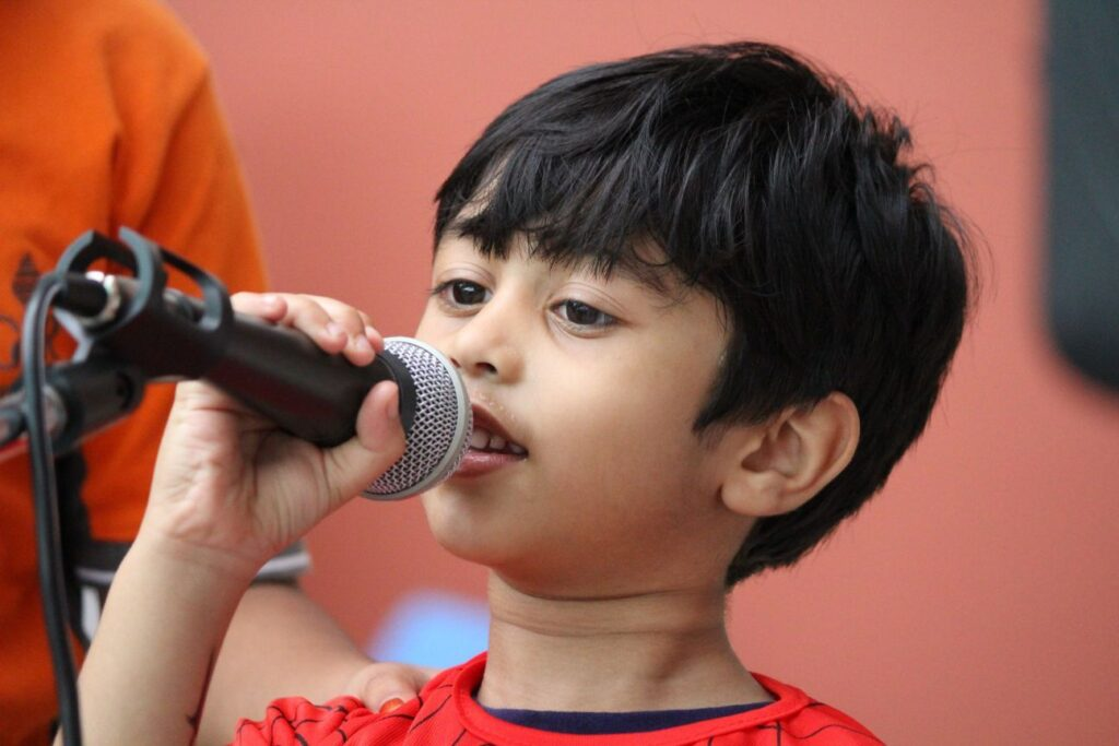 Singing activity in Top 10 international school in Bangalore