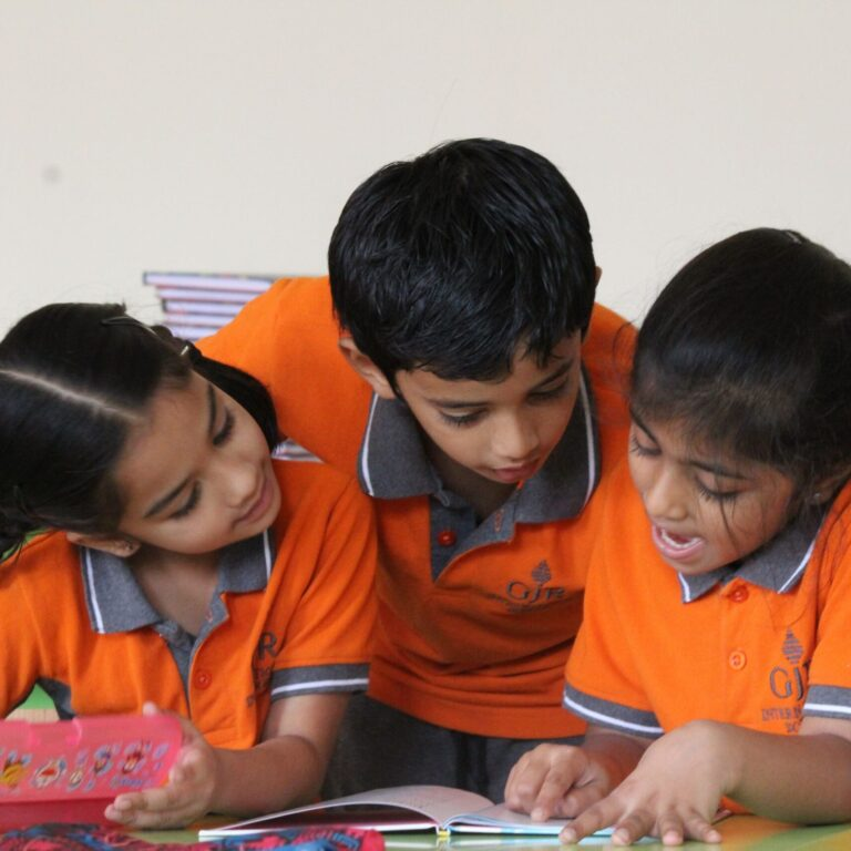 Kids learning together at International school in Marathahalli Bangalore